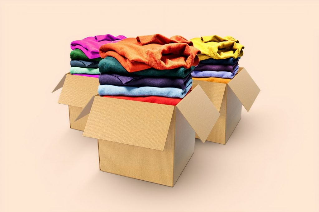 the perfect pack for your precious products - multi-coloured shirts